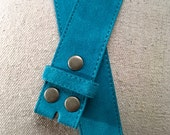Turquoise Blue Suede Belt Strap for Buckles