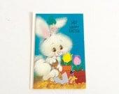 Vintage Easter Greeting Card , Childrens , Kids , 1970s , retro , kitsch , first easter , granchild