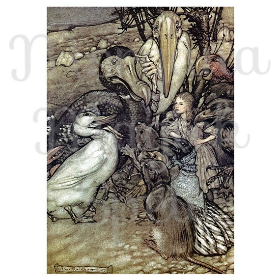 ALICE in WONDERLAND- But Who Has Won Arthur Rackham