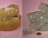 DeStash Jewel Ribbon  Diamond Mesh Bling in GOLD or SILVER Two Yard Package