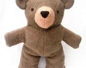 Teddy Bear, Organic Stuffed Animal, Hand-dyed, GOTS Certified Organic Cotton