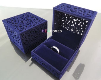 Jewelry Box - Purple Velvet or Red Velvet Ring Box Jewelry Case Packaging Supplies Velveteen Ring Jewelry Box