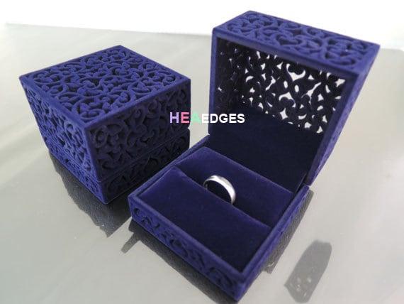 Jewelry box purple velvet or red velvet ring box jewelry for Red velvet jewelry gift boxes