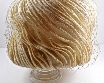 Mr. John Vintage Cloche Hat, Mr. John Couture Hat, Vintage Bridal Haute Couture Hat, couture cloche hat, easter
