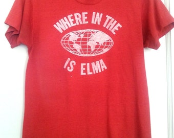 vintage 70s 80s tee Where in the world is Elma