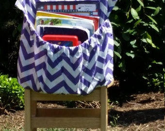 PURPLE ChEvRoN  // Chair Pockets // Teacher Classroom Storage // Seat Sacks  <<16 inch PREMIUM>> End of Year SALE CoffeeKidsNDolls