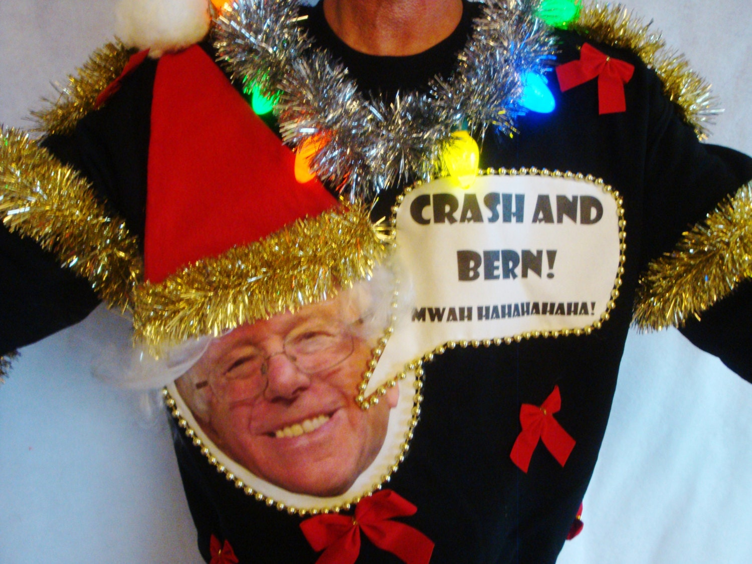 Bernie Sanders Ugly Christmas Sweater Contest Winner Political