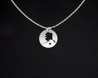 Alaska Necklace - Alaska Jewelry - Alaska Gift
