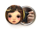 Pocket Mirror, Illustration, Girl, Gatsby, Whimsical Art