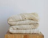100% Merino Wool Blanket, Ombre Throw Afghans Blanket, Fringe chunky blanket scarf, Winter Spring decor gifts