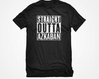 T-Shirt Straight Outta Azkaban Unisex Adult Cotton Men's Short Sleeve Wizard Wardrobe Tshirt Gift for Him or Her #2000