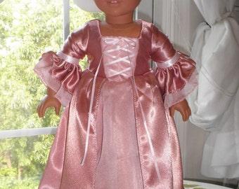 Marie Antoinette 18 inch doll dress
