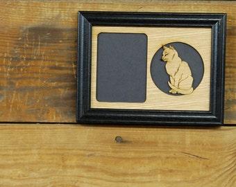 Cat Picture Frame, Cat Portrait Frame, Cat Lover Gift, Gift for Cat Lover, Cat Memorial