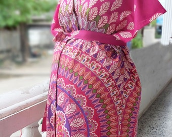 Maternity Hospital Gown, Labor and delivery gown, Snaps down Front gown delivery or  Back Snap, Kimono Robe Pregnant, Mom to be