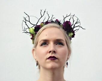 Dark Fairy | Whimsy Mouse | Handmade Mouse Ears | Maleficent | Sleeping Beauty