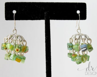Green Bollywood Jhumka Inspired Earrings