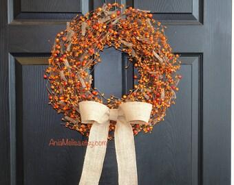 pip berry wreaths fall berries wreaths for front door wreaths welcome weddings wreaths front door wreath fall decor Thanksgiving wreaths