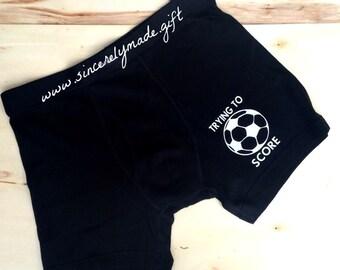 Soccer Boyfriend -  Gift Ideas for Men - Gifts for him - boyfriend gifts - soccer boxers - soccer gift - Funny gifts for men - husband gift