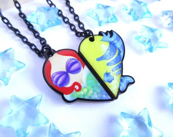 Ariel and Flounder BFF- Necklace Set