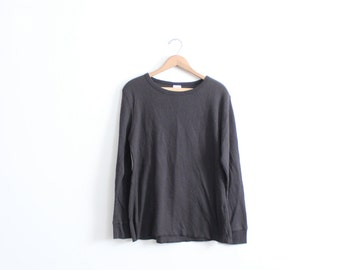 Basic Black 90s Thermal Shirt