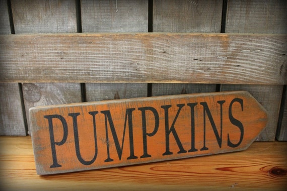 Primitive Pumpkins Sign, Painted Wood Sign, Halloween Decor, Fall Decor, Harvest