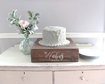 Rustic Wedding Cake Stand Wooden Decor Vintage
