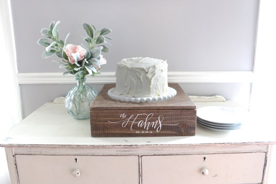 Rustic Wedding Cake Stand Wooden Cake Stand Wedding Decor