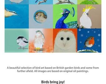 2016 Bird Art Wall Calendar - BIRDS BRING JOY!