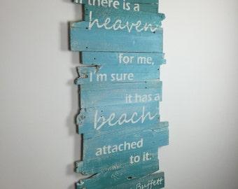 "Beach Sign Jimmy Buffett Quote Beach Decor Wall Hanging 24"" x 43"""
