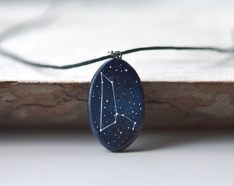 Leo pendant Constellation gift July august birthday Astrology jewelry Leo horoscope Personalized gift Zodiac necklace Gift for him Leo sign