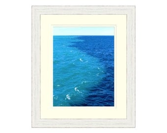Blue water photo Blue wall art Crystal clear water Ocean art Ocean decor Blue home decor Nautical decor Cook Strait, New Zealand Ocean photo