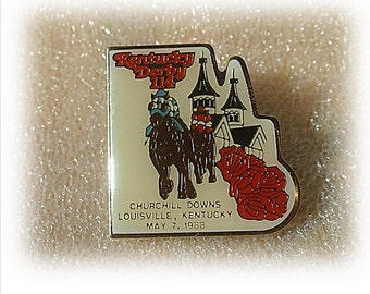 1988 Churchill Downs Kentucky Derby Pin, Vintage, Derby Pin, Horse Race, Kentucky Derby 114, May 7, 1988, Church Hill Downs, Collectible