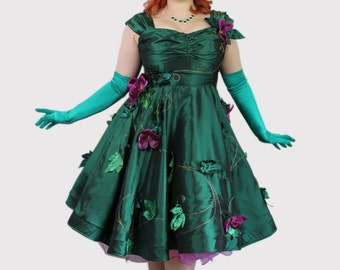 Custom Pinup Poison Ivy Dress Costume