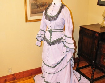 1870 8-piece reproduction Victorian dress