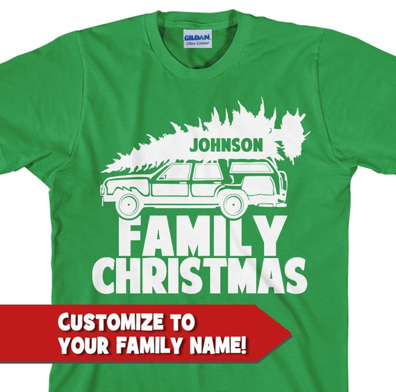 Custom Family Christmas T-Shirt Personalized Christmas
