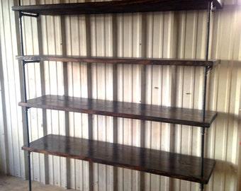 Industrial Retail shelving - Heavy duty shelf - Retail fixture - Industrial shelves - Commercial Retail display - Pipe shelving Unit - Shelf