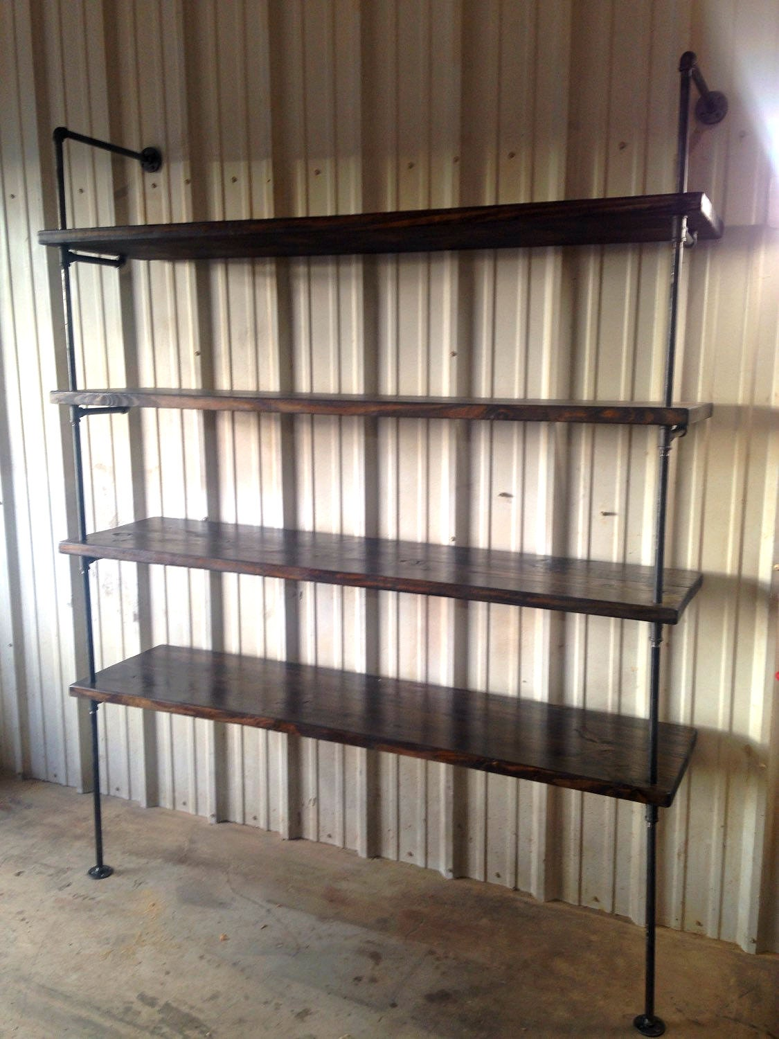 Industrial retail shelving heavy duty shelf fixture