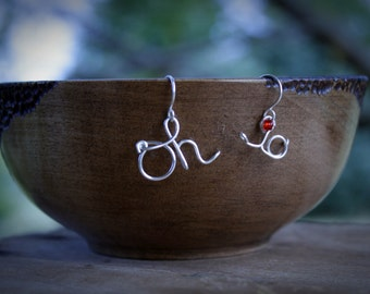 Script Ohio Earrings, Script Ohio Jewelry, OH-IO Earrings, OSU Earrings, Ohio State jewelry, Ohio State Buckeyes Jewelry, Buckeye Jewelry