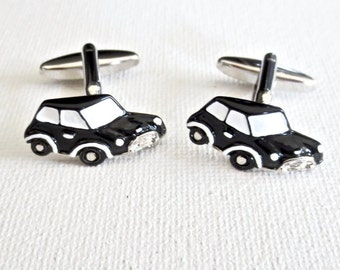 Mini Cooper Cufflinks Cuff Links Wedding Groom Groomsmen Gift