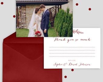 Photo Wedding Thank You Cards Photo, Wedding Photo Thank You Cards Wedding, Personalised Wedding Thank You Cards, SKU: WFK
