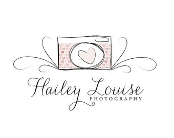 Hand Drawn Logo - Pre-made logo - HAILEY LOUISE - Photography Logo