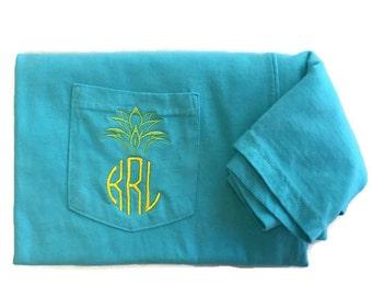 Monogram Shirt, Pineapple Shirt, Personalized Gift For Women, Comfort Colors, Summer Shirt, Beach Shirt, Vacation Shirt, Be A Pineapple