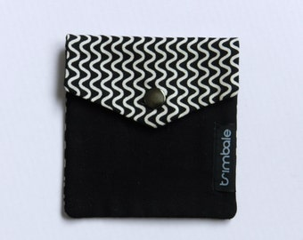 Recycled fabric pouch | Cause ripples in black and white