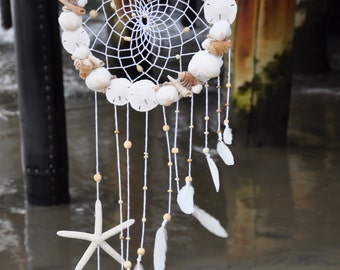 15% off SALE!! Large Seashell & Starfish Dreamcatcher