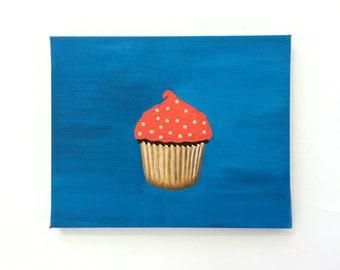 Pop Art, Modern Art, Cupcake Art, Kitchen Painting, Modern Painting, Cupcake Painting, Original Painting