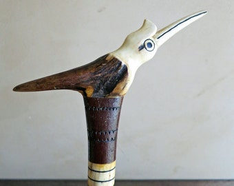 Unique carved antler related items etsy for Walking fish for sale