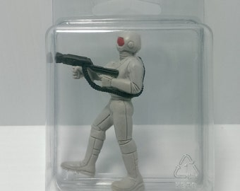1986 Mattel GUTS Laser Soldier Action Figure toy with Protective Case P33