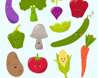 80% OFF SALE Vegetable Clipart, Digital Vegetables, Vegetable Graphics, Printable, Commercial Use
