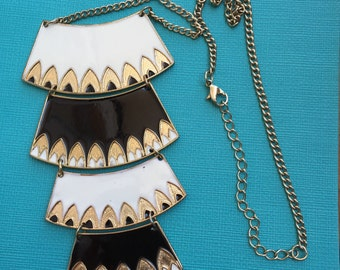 4 TIERED Egyptian Inspired Necklace