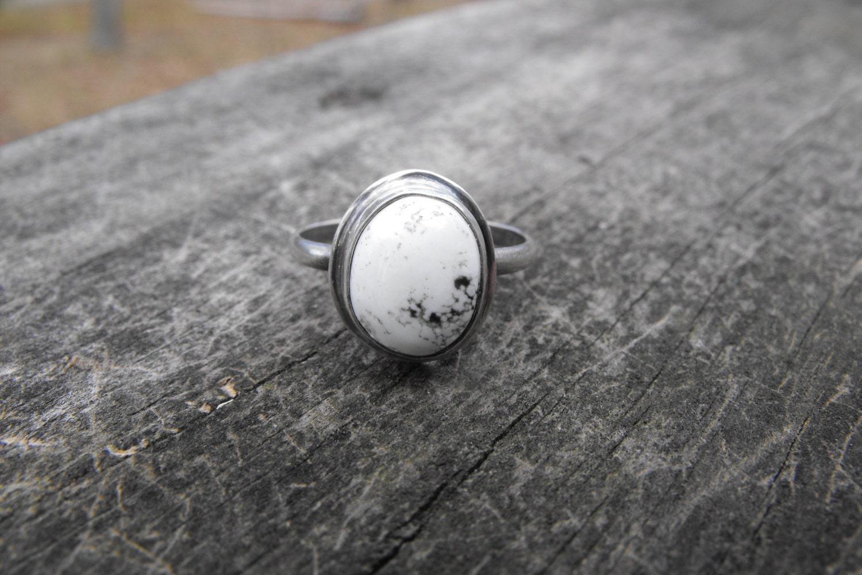 custom white buffalo turquoise ring sterling silver white